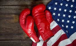 Boxing and America. Royalty Free Stock Photo