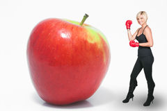 Boxing Apple Royalty Free Stock Image