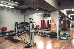 Boxing area in the gym royalty free stock photos