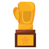 Boxing award gold  icon Royalty Free Stock Images
