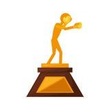 Boxing award gold  icon Royalty Free Stock Photo