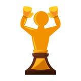 Boxing award gold  icon Stock Photo