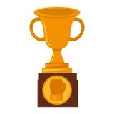 Boxing award gold  icon Royalty Free Stock Photos