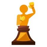 Boxing award gold  icon Royalty Free Stock Photography