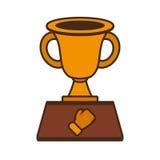 Boxing award gold  icon Stock Photography