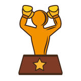 Boxing award gold  icon Stock Images
