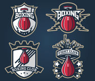 Boxing badges and labels. Vector boxing badges and label for any use Stock Photos