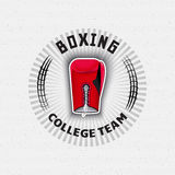 Boxing badges logos and labels for any use Stock Photo