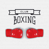 Boxing badges logos and labels for any use Stock Photography