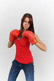 Boxing beauty Royalty Free Stock Images