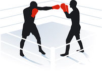 Boxing, boxing ring. Contest, fight Stock Image