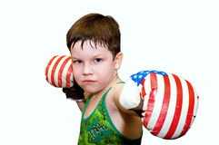 The boxing boy Royalty Free Stock Image