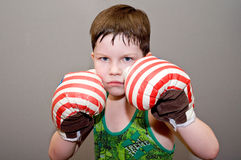The boxing boy Royalty Free Stock Images