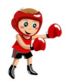 Boxing Boy. Boy playing box isolated on white background. You can find different kids or children playing sports in my portfolio Stock Photos
