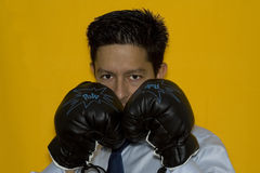 Boxing in business Stock Image
