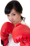 Boxing business woman Stock Images