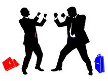Boxing businessman 1 royalty free stock images