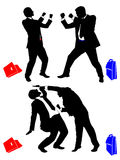 Boxing businessman Royalty Free Stock Photo