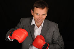 Boxing businessman Stock Photo