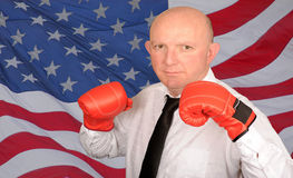 Boxing businessman Royalty Free Stock Image