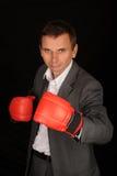 Boxing Businessman Royalty Free Stock Image