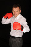 Boxing businessman Royalty Free Stock Photos