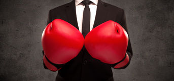 Boxing businessman Royalty Free Stock Images