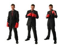 Boxing businessmen Stock Images