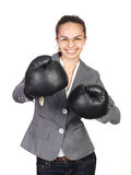 Boxing businesswoman Royalty Free Stock Photo