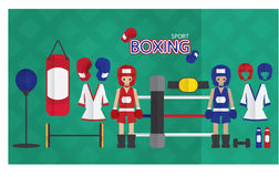 Boxing cartoon icon Royalty Free Stock Photo