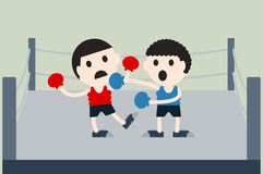 Boxing cartoon vector Royalty Free Stock Images