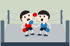 Boxing cartoon vector Stock Photos