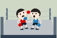 Boxing cartoon vector Stock Photos
