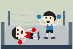 Boxing cartoon vector Stock Image