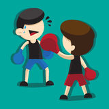 BOXING CARTOON Royalty Free Stock Images