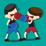 BOXING CARTOON Royalty Free Stock Photo