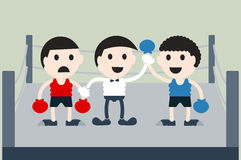 Boxing cartoon vector Stock Images