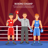 Boxing Champ Composition Stock Photo