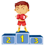 A boxing champion. Illustration of a boxing champion on a white background Royalty Free Stock Image