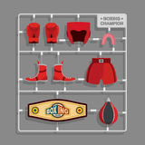 Boxing champion Plastic model kits Royalty Free Stock Image