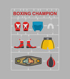 Boxing champion Plastic model kits Royalty Free Stock Photo