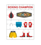 Boxing champion Plastic model kits. Royalty Free Stock Photos