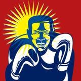 Boxing champion punching Royalty Free Stock Image