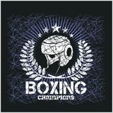Boxing Champion - Vintage vector artwork for t Royalty Free Stock Photo