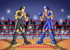 Boxing championship Royalty Free Stock Image