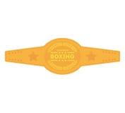 Boxing championship belt isolated icon. Vector illustration design royalty free illustration