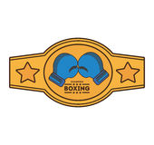 Boxing championship belt isolated icon Royalty Free Stock Photo
