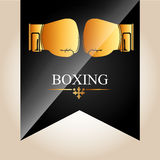 Boxing championship design Royalty Free Stock Photography