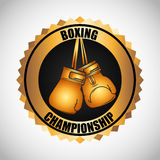 Boxing championship design Royalty Free Stock Images