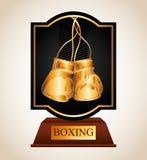 Boxing championship design Stock Photography
